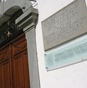 Eingang zum kantonalen Verwaltungsgericht in Weinfelden. (Bild: Susann Basler)