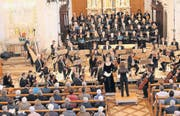 Konzertabend in Kreuzlingen-Emmishofen, mit Solistin Claudia von Tilzer und Dirigentin Annedore Neufeld. (Bild: Mario Gaccioli)