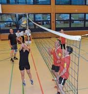 Nicht nur beim Feiern, auch bei Ballwechseln auf dem Feld sind die Teilnehmer ambitioniert.