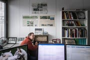Redaktorenbueros vor dem Umzug: Stefan Borkert (Bild: Michel Canonica (Michel Canonica))