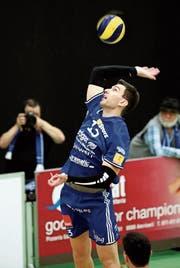 Den ersten Satzgewinn hat Amriswil seinem Neuzuzug Nemanja Jakovljevic zu verdanken. (Bild: Mario Gaccioli)