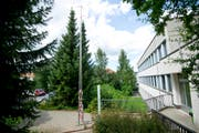 Die Visiere für den Erweiterungsbau des Ostschweizer Kinderspitals stehen. (Bild: Urs Bucher)
