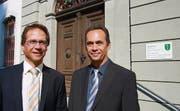 Wer wird Präsident des Kreisgerichts? Die kandidierenden Richter Olav Humbel (links), FDP, und Gabriel Bawidamann, CVP. (Bild: Andrea Sterchi)