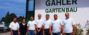 Die Crew der Firma Gähler Gartenbau AG. (Bild: pd)