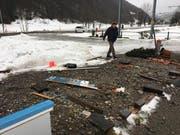 Hier in der Nähe der Talstation der Ebenalp-Bahn in Wasserauen stand einmal der Container der Flugschule Appenzell. (Bild: pd)