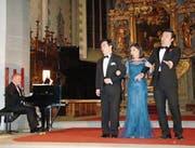 Drei junge Opernsänger aus Asien begeistern an vier Neujahrskonzerten. (Bild: FO)