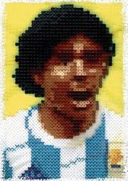 Ein Maradona aus Bügelperlen: Die Eingabe von Martin Holle.