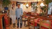 Claudia Maier und Chris Puf im neuen Restaurant. (Bild: KER)
