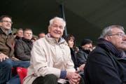 Hannes W. Keller beim Halbfinal des Schweizer Cups 2012 zwischen dem FC Winterthur und dem FC Basel im ausverkauften Stadion Schuetzenwiese. (Bild: Urs Jaudas)