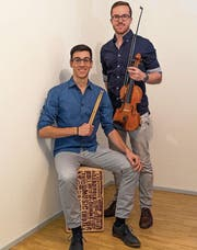 Manuel Ledergerber und Cédric Akeret haben das Orchester La Passione gegründet. (Bild: Florian Beer)