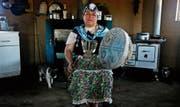Kallfurayen llanquileo, religiöse Führerin bei den Mapuche-Indigenen, deren Gemeinde der Papst in Chile besucht. (Bild: Esteban Felix/Keystone (Temuco, 8. Januar 2018))