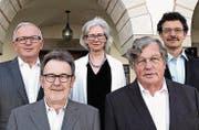 Der neugewählte Ortsbürgerrat (v. l.): Norbert Hodel, Fredy Weber, Andrea Bosshart-Schaffhauser, Ruedi Schär und Hansruedi Nick. (Bild: PD)