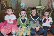 Bunt verkleidet genossen die Kleinen das wilde Treiben. (Bild: Christoph Heer)