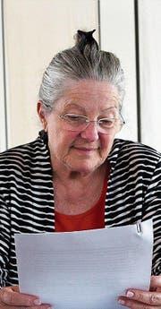 Linda Grace Rehsteiner organisierte die Lesung. (Bild: Hugo Berger)