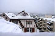 Der Winter ist zurück. Im April ist das in der Ostschweiz eher die Regel als die Ausnahme. (Bild: Urs Bucher)