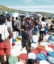 Hilfslieferungen nach dem verheerenden Erdbeben in Haiti von 2010. (Bild: Thony Belizaire/AFP (Port-au-Prince, 4. Januar 2011))