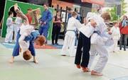 «Eifach Judo», dieses Motto war natürlich sinngemäss für die Demonstrationen des Judoclubs Buchs.