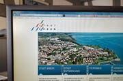 Die Stadt setzt auf ihre Homepage. (Bild: Max Eichenberger)