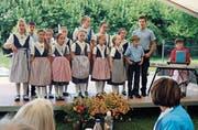 Die Thurgauer Jodelspatzen sangen Lieder zu Texten von Christoph Sutter. (Bild: Markus Bösch)