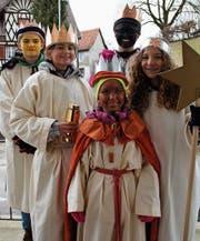 Kinder der Jubla Homburg-Gündelhart waren als Sternsinger unterwegs und sammelten für einen guten Zweck. (Bild: Salome Preiswerk-Guhl)