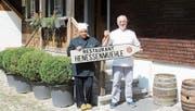 Felicia und Mario Frappietro freuen sich, am 1. September das Restaurant Henessenmühle wieder zu eröffnen. (Bild: Manuela Bruhin)