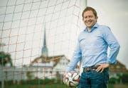 Dave Hungerbühler wird auch in Zukunft häufig auf dem Sportplatz Tellenfeld anzutreffen sein. (Bild: Reto Martin)