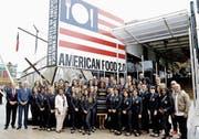 Präsidentengattin Michelle Obama (Mitte) hat sich gerne vor und im US-Pavillon an der Expo in Mailand ablichten lassen. (Bild: Antonia Calanni/AP (Mailand, 18. Juni 2015))
