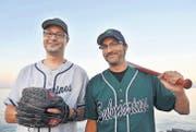 Leidenschaftliche Baseballer: Roger und Reto Martin haben die Romanshorner Submarines gegründet. (Bild: Nana do Carmo)