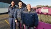 Sind zufrieden mit dem neuen Standort der Georges Bleiker AG: Standortleiter Bruno Meier, Harald Müller und Daniel Bleiker. (Bild: Manuel Nagel)