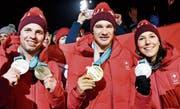 Ein Trio veredelt die Schweiz (Bild: Jean-Christophe Bott/Keystone)