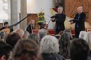 Barocke Klänge mit Gesang, Laute und Cembalo in der Kirche. (Bilder: sso)