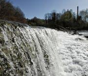 Der Baubeginn des Kleinwasserkraftwerks war lange durch Einsprachen blockiert. Doch ab Mitte 2018 produziert die Sitter Strom. (Bild: Ralph Ribi)