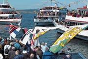 Mit dem Flottenstern geht traditionell die Schifffahrtssaison los. (Bild: Ernst Hunkeler)