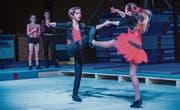 Let's rock 'n' roll – Der Turnnachwuchs macht auch beim Tanz eine gute Figur. (Bilder: Andrea Stalder)