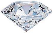 A beautiful sparkling diamond on a light reflective surface. 3d image. Isolated white background. (Bild: Anatoly Maslennikov (31587034))