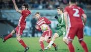 Nico Abegglen (in Grün) erzielte gegen Bavois das 2:0. (Bild: Urs Bucher)