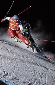 Marc Bischofberger in Rot ist derzeit schneller als seine Konkurrenz. (Bild: Gian Ehrenzeller/KEY)