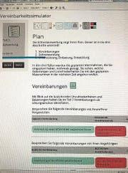 Resultatblatt des Simulators (Bild: .)