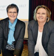 Präsidentin Elisabeth Sulger Büel und Historikerin Karin Peter. (Bild: Margrith Pfister-Kübler)