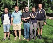 Die Sieger vom Wochenende (von links): Fabian Hörler, Benno Rist, Hanspeter Rickli, Luzia Ulmann und Peter Hochreutener. (Bild: PD)