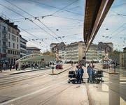 Zwischen Bohl und Schibenertor werden ab kommendem Montag Gleise saniert. (Bild: Benjamin Manser)