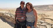 Annamarie Engler-Jakober hat in Israel Freundschaften geschlossen, hier zum Beispiel ihr Bekannter Freddy Ungar. (Bilder: Annamarie Engler/PD)