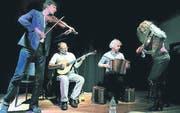 Matthias Lincke, Dide Marfurth, Simon Dettweiler und Christine Lauterburg beim Auftritt in Bischofszell. (Bild: Rudolf Steiner)