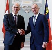 Bundesrat Berset zu Besuch im Fürstentum Liechtenstein (Bild: Peter Klaunzer/Keystone)