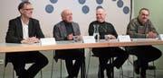 Die Verantwortlichen präsentierten im TAK mit Stolz die Inhalte der Podium-Konzertreihe. (Bild: Tatjana Schnalzger)