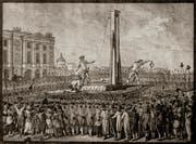Der franzoesische König Louis XVI. wurde am 21. Januar 1793 auf dem Place de la Revolution, dem heutigen Place de la Concorde, enthauptet.