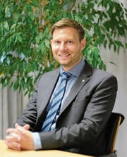 Als Kreiskommandant arbeitet Florian Hunziker fast Tür an Tür mit Landammann Paul Signer. (Bild: Karin Erni)