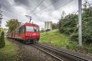 Die Zahnradstrecke in der St.Galler Ruckhalde wird mit dem neuen Tunnel aufgehoben. (Bild: Urs Bucher)