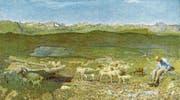 Für das Bild «Alpweiden» (1893/94) hat sich Giovanni Segantini vom realen Gegenstand gelöst. (Bild: Kunsthaus Zürich)