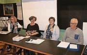 Ein neues und drei bekannte Gesichter des Vorstands: Karin Fiechter, Renate Bieg, Barbara Auer und Hans Toggenburger. (Bild: pd)